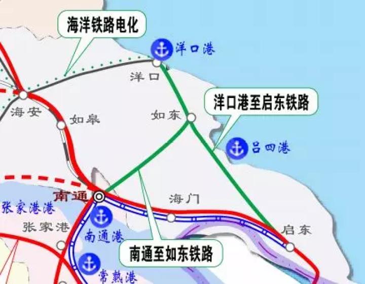 沪通铁路一期建成,二期开建.江苏发布运输新方案!