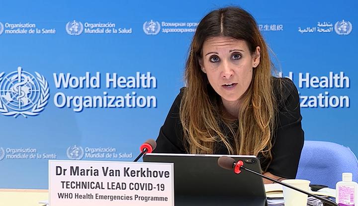 世卫组织卫生紧急项目技术主管玛丽亚·范·科霍夫  央视新闻 图